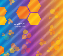 Abstract Geometric Polygon Design Vector