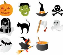 Halloween Icons Free Vector