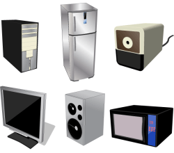 Home Electrical Appliances Free Vector