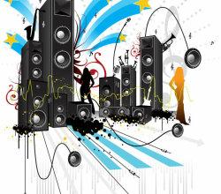 Free Pop Art Style Music Vector