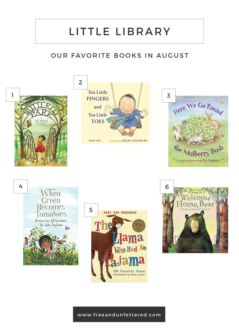 A few of our favorite books at 30 months old.