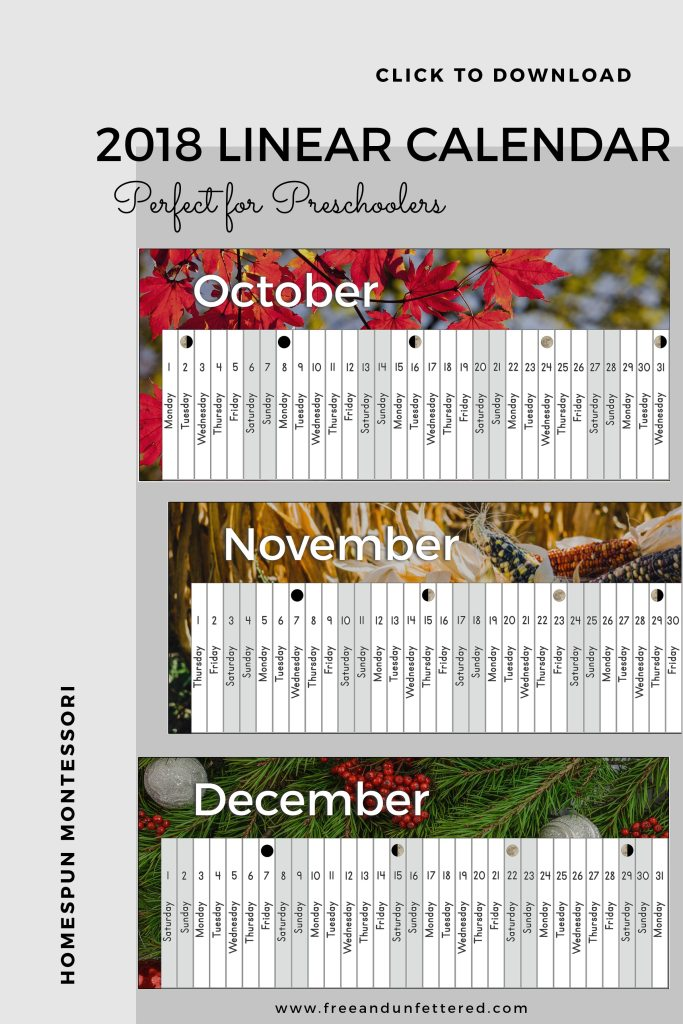 download free 2018 linear calendar here