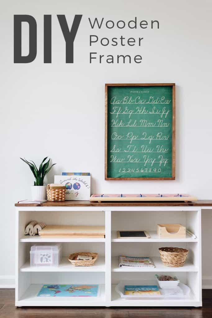 diy wooden poster frame free and