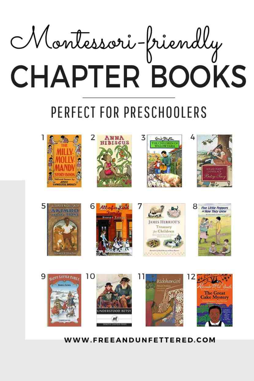 recommended montessori-friendly chapter books to read-aloud to preschooolers