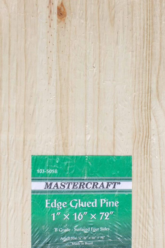 Mastercraft edge-glued pine project panel