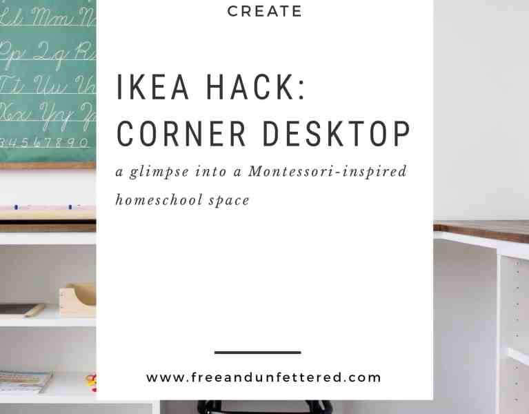 create a corner desk using IKEA Besta frames
