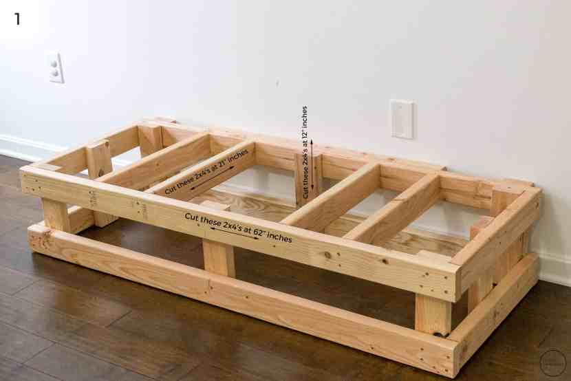 how to build a hearth box frame out of pine 2x4 boards