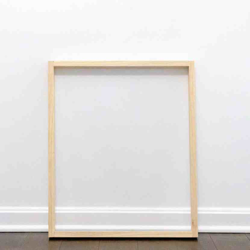 1x2 select pine board frame to fit a chalkboard panel