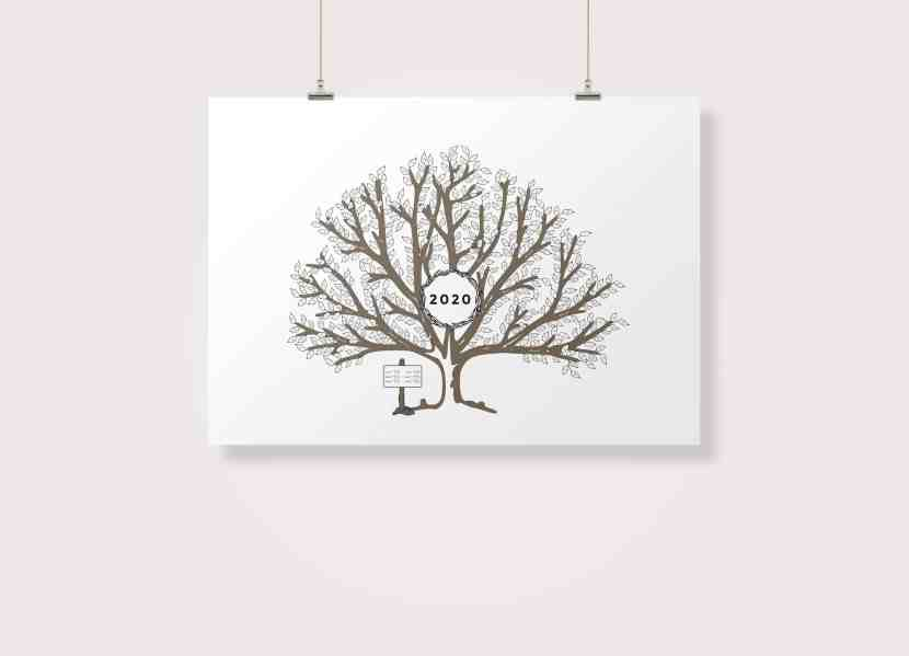 Free Printable: 2020 Weather Observation Tree | Are you looking for a fun and interactive way to observe and record the weather with your children? Try this Waldorf-inspired weather observation tree! Learn more at www.freeandunfettered.com.