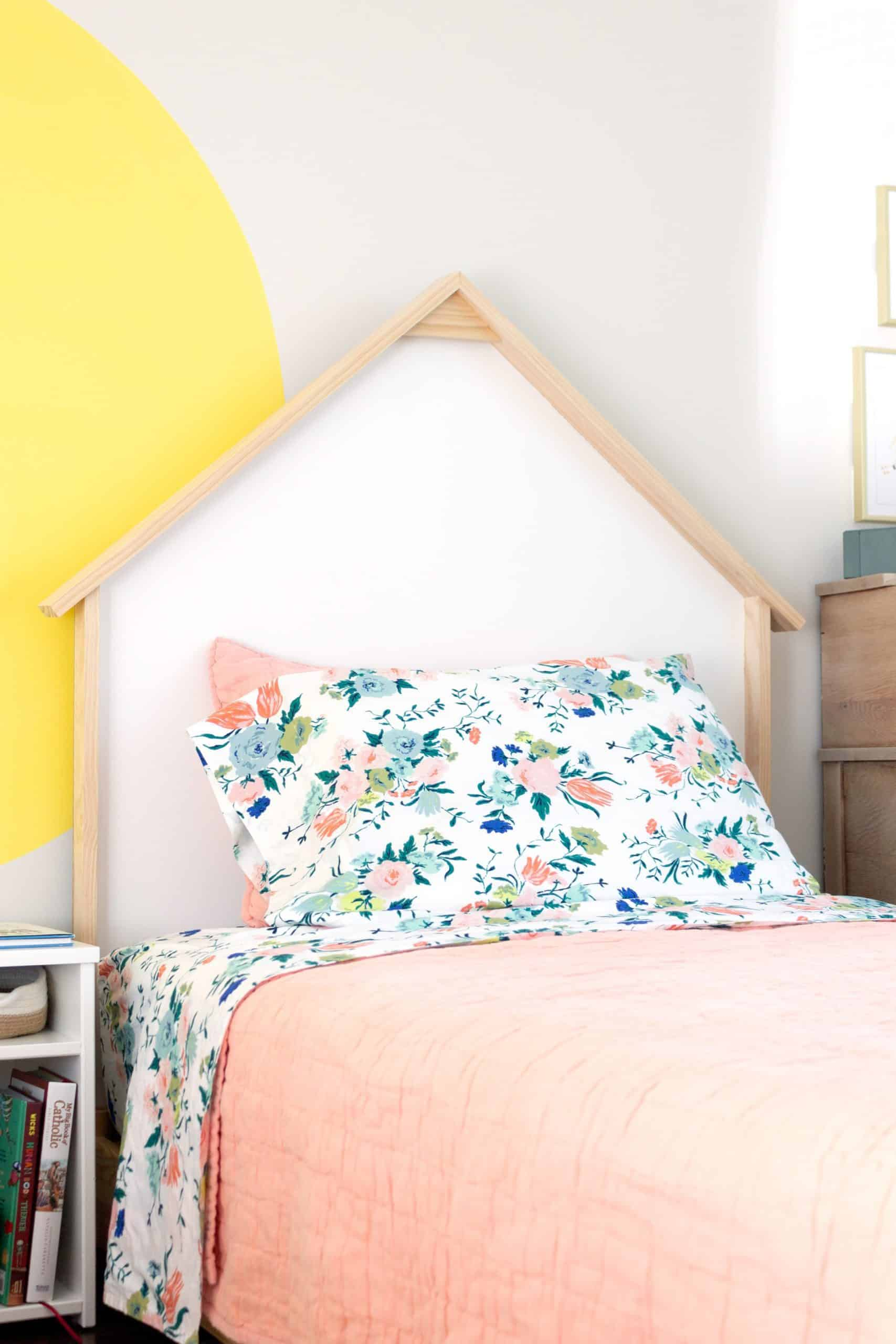 Diy Twin House Headboards One Room Challenge Week 2 Free And Unfettered