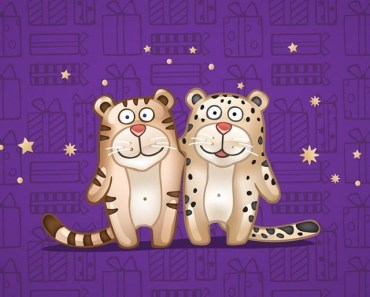 2 Cute Cartoon Tigers
