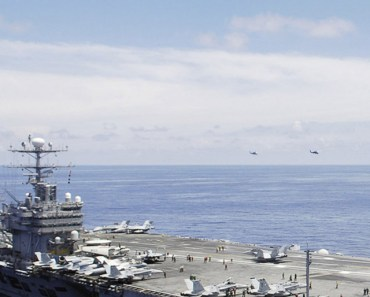 Aircraft Carrier and Fighter Jets