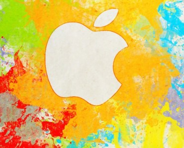 Coloful Hand-painted Apple Logo
