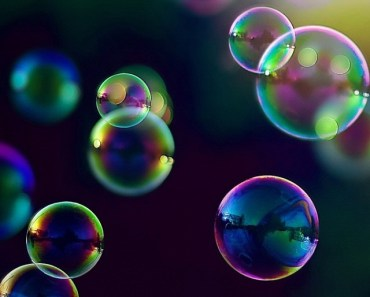 Colorful Bubbles In Sunlight