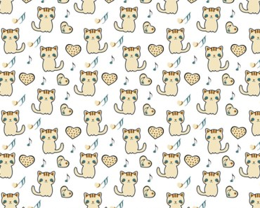 Cute Kitty and Heart Patterns