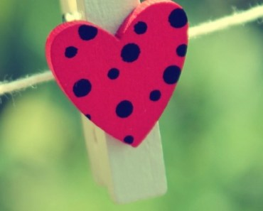 Heart and Wooden Clip