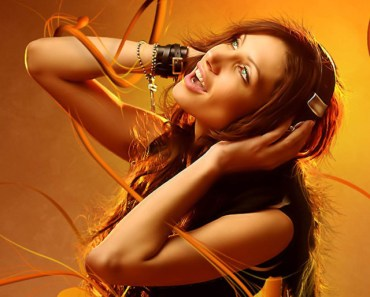 Music Girl with Headphones