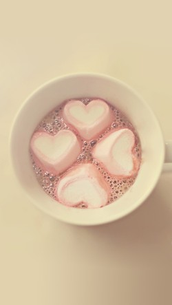 Pink Hearts In The Cup
