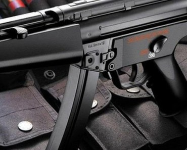 Submachine Gun and Bullets