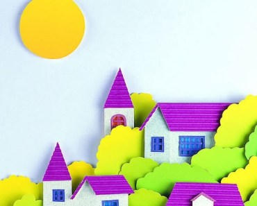 Cartoon Little Village Clip Art