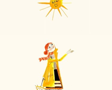 Hand Painted Girl and Sun