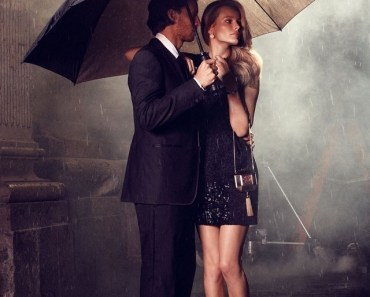 Man and Woman Under The Umbrella