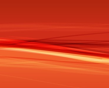 Orange Abstract Curves