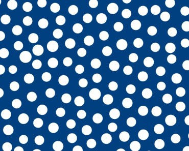Polka Dots with Blue Background