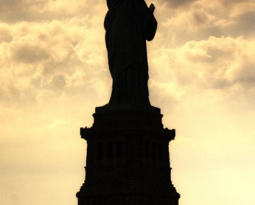 Statue of Liberty Silhouetted At Twilight