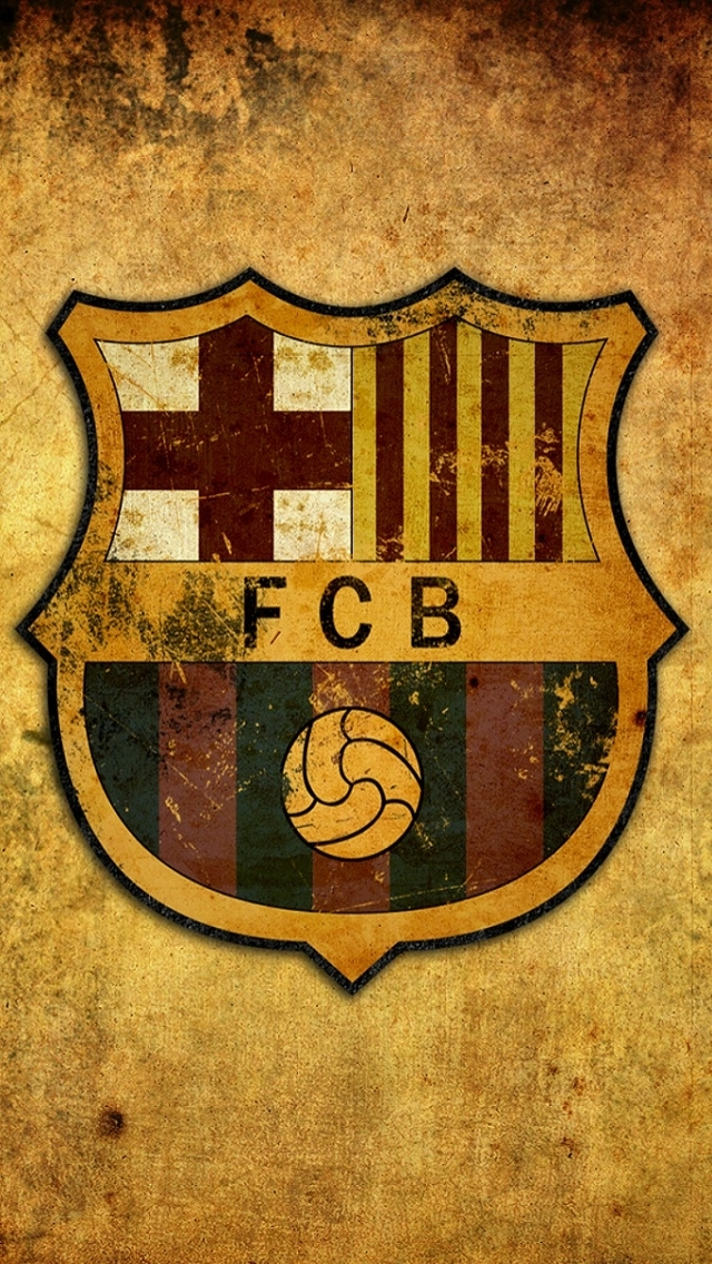 Vintage FC Barcelona Logo iPhone 6 / 6 Plus and iPhone 5/4 ...