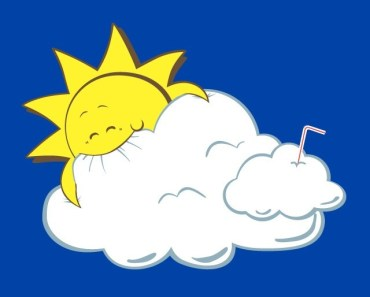 Cartoon Sun Eating Clouds