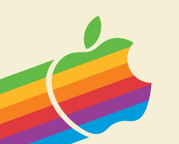Flat Colored Apple Logo