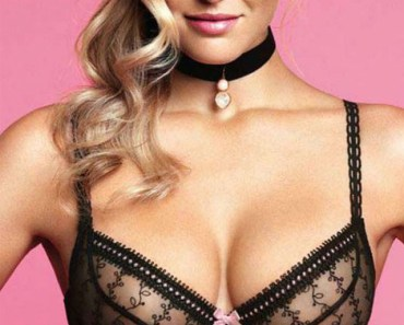 Bar Refaeli Black Lace Bra