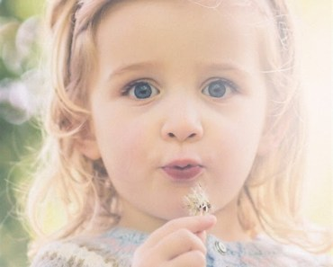 Beautiful Little Girl Bokeh
