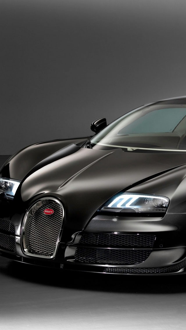 Black Bugatti Veyron Grand Sport