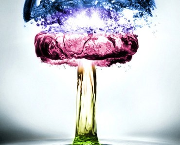 Colorful Water Mushroom Cloud