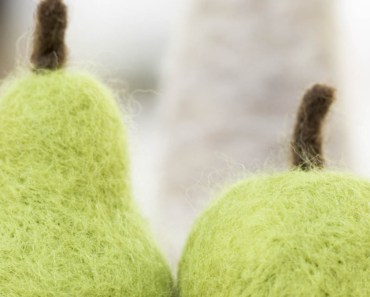 Green Wool Pear and Apple