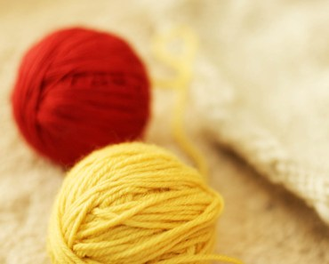 Red and Yellow Balls of Yarn