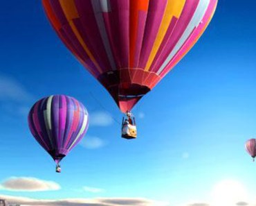 Colorful Hot Air Balloons Over The Clouds