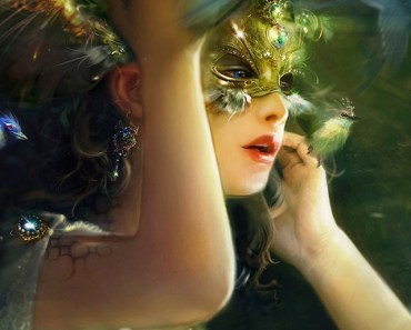 Fantasy Girl With Gold Mask