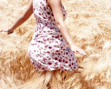 Little Girl Playing In The Fields