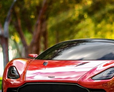 Red Aston Martin DBC Concept Car