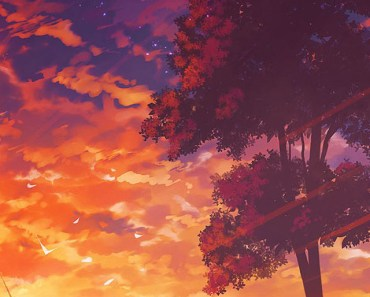 Anime Sunset Scenery