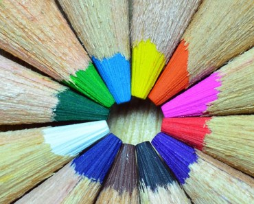 Colorful Pencils Round