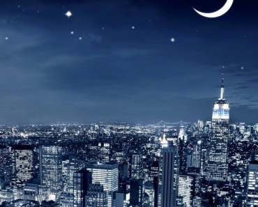 New York City Crescent Moon