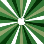 Apple Logo With Radial Background