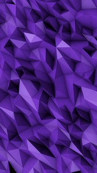 3D Purple Abstract Polygons
