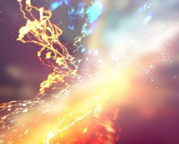 Colorful Water Collision