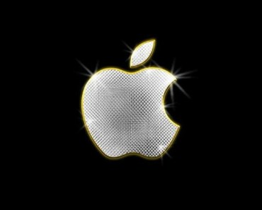 Shiny Metal Apple Logo