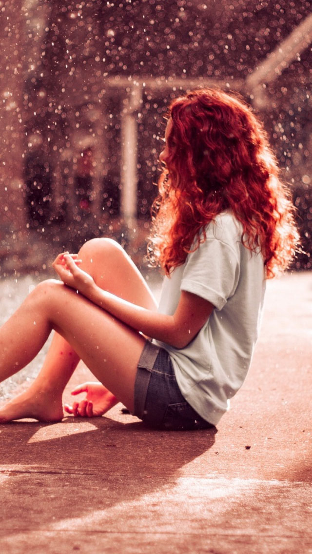 Teenage Girl Short Jeans In Snow Wallpaper  Free iPhone Wallpapers